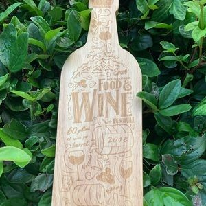Disney Food and Wine decorative cutting board